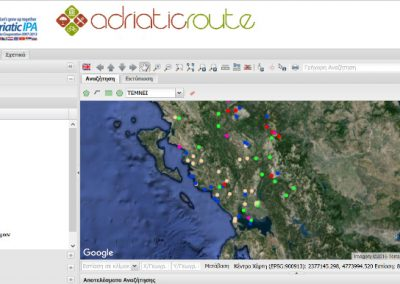 Touristic promotion application and touristic data management for the project Adriatic-Route for Thematic Tourism