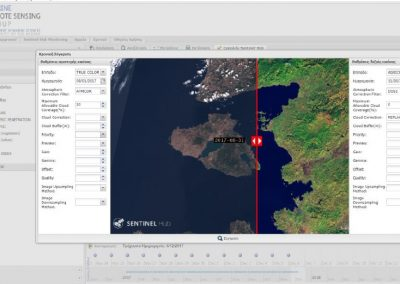 Geoportal for marine geophysical parameters visualization